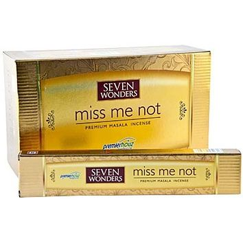 Seven Wonders Miss Me Not Incense - 15 Gram Pack (12 Packs Per Box)