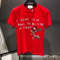 NEW 100% Authentic gucci 2018ss flowers t shirt ※023