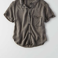 Don't Ask Why Short-Sleeve Button-Down Shirt, Olive