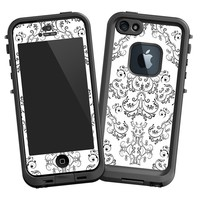 """Dainty Black and White Damask """"Protective Decal Skin"""" for LifeProof fre iPhone 5/5s Case"""