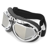 Amazon.com: Cool Folding Motorcycle Riding Eye Protection Glasses Goggle - Black + Silver: Sports & Outdoors