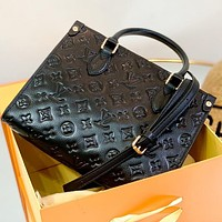 Inseva Louis Vuitton LV High Quality Women Shopping Leather Tote Handbag Shoulder Bag Crossbody Satchel