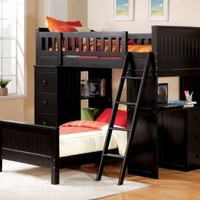 Acme 10980 Willoughby Twin Loft Bed, Black
