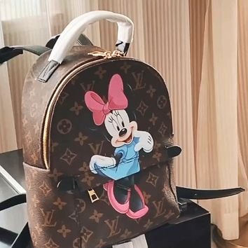 LV 2020 new graffiti print men and women backpack bag