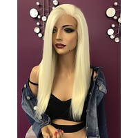 Blond lace front wig| layered | Soft blended human hair|  Patience