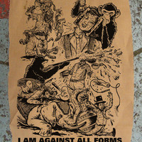 brutal animal rights BACK PATCH huge bloody and morally correct