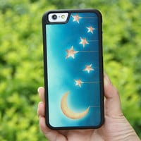 Moon and Stars Dream iPhone 6/6plus/5S/5/5C/4S/4 Tough Case,Samsung Galaxy S5/S3/S3/Note 3 Silicone Rubber Case