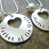 Mother of the Bride Mother of the Groom Personalized Necklaces Swarovski pearl Necklaces