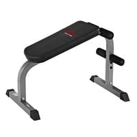 Sunny Health & Fitness Sit-Up Bench (Grey)