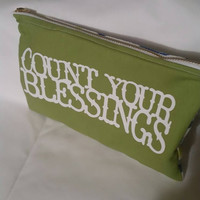 Zippered Pouch- Pencil Pouch- Bible Pouch- Storage Bag