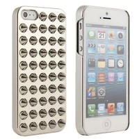 Brightdeal Punk Style Electroplating 3D Spike Rivet Studs Back Case Compatible for iPhone 5 5S (Silver)