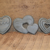 Vintage Set of Three Country Blue Hearts Wall Decor HOMCO Home Interiors
