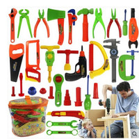 Baby educational toys Tool  Kit children play house classic plastic toy kids tools hammer toolbox Simulation
