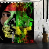 Best Nice Custom BOB MARLEY Shower Curtain Bath Curtain Waterproof Fabric For Bathroom MORE SIZE WJY#4
