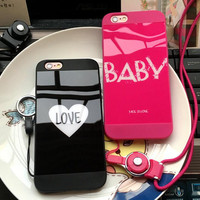 Love Baby couple mobile phone case for iphone 6 6s 6 plus 6s plus + Nice gift box 71501