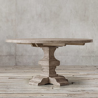 Reclaimed Russian Oak Baluster Round Dining Table