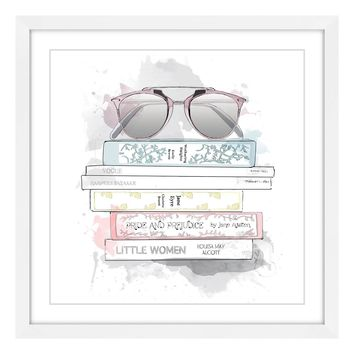 Floating Framed Sunnies and Books
