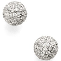 Women's Bony Levy Diamond Pave Ball Stud Earrings (Limited Edition) (Nordstrom Exclusive)