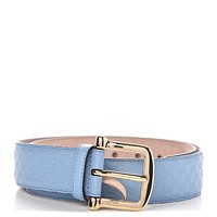 Gucci Microguccissima GG Mineral Blue Soft Margaux Leather Belt Size 95/38