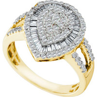 Diamond Fashion Ring in 10k Gold 0.78 ctw
