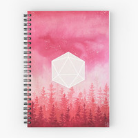 '//Real Red//' Spiral Notebook by commanderflower