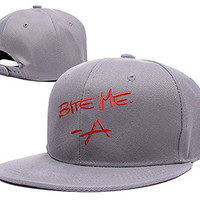 ZZZB Pretty Little Liars A Bite Me The Originals Logo Adjustable snapback Embroidery Hats Caps - Red