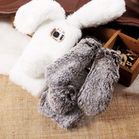 Rabbit Fur Case for Apple iPhone 7 Plus/6s Plus/SE 5s/Samsung Galaxy S7 Edge/Sony Xperia XA Bunny Shape TPU Silicone Phone Cover