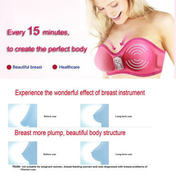 2017 Far-infrared Vibration Electric Breast Enhancer Bra Massager Beauty Health Care Product for Women