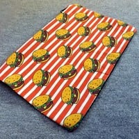 Cheeseburger Zipper Pouch Makeup Bag | PoppysGardenGate - Bags & Purses on ArtFire