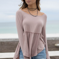 Alcatraz Island Light Mocha Long Sleeve Top