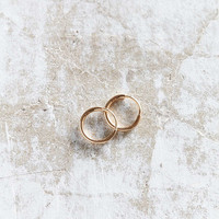 Seoul Little X UO 18k Gold Small Hoop Earring - Urban Outfitters