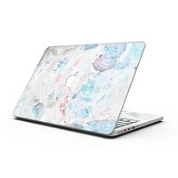 Marbleized Pink and Blue Blotch - MacBook Pro with Retina Display Full-Coverage Skin Kit