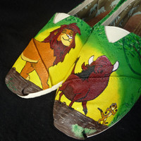 Custom Hand Painted Shoes - Lion King