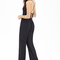 FOREVER 21 Wide-Leg Surplice Jumpsuit
