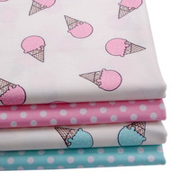 50*147cm patchwork printed cotton fabric for Tissue Kids Bedding textile for Sewing tilda goll ice cream 48406