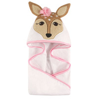 Hudson Baby Fawn Animal Face Hooded Towel