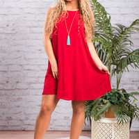 Fixated On Fab Dress, Red
