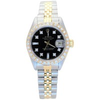 Rolex Ladies Yellow Gold Stainless Steel Diamond Datejust Automatic Wristwatch