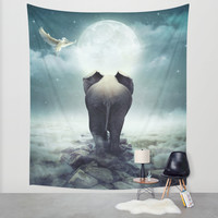 Guide You Through the Darkness Wall Tapestry by Soaring Anchor Designs