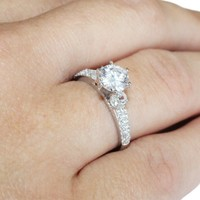 Diamond Promise Ring on Hand2 - Beautiful Promise Rings