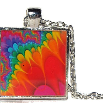 """Unique Necklace, Jewelry, Gifts for Women,Black Friday, Free Shipping, One of a Kind,  """"COLOR ME HAPPY"""" , Original"""