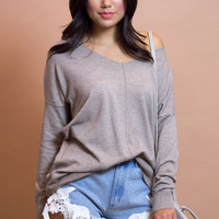 York Knit Top - Taupe
