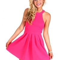 Back In Style Fuchsia Dress   Monday Dress Boutique