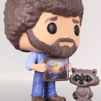 Funko Pop Television, Bob Ross and Raccoon, The Joy of Painting #558