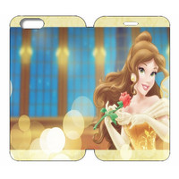 "Disney Princesses (Belle) Wallet Case w/ Stand Flip Cover for iPhone 6/6s (4.7"")"