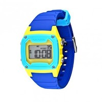 Freestyle Watch Shark Classic Silicone Blue Yellow Cyan At Hansen's Surf Shop