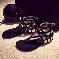 Flip Flops Gladiator Flat Shoes Sandals