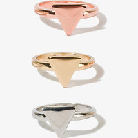 Stackable Triangle Ring Set | FOREVER 21 - 1020923236