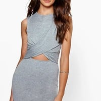 Ava Wrap Front Cut Out Bodycon Dress