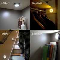 Vilso Stick-on Anywhere Portable 6 LED Wireless Motion Sensing Light Bar with Magnetic & 3M (Battery Operated) - Silver